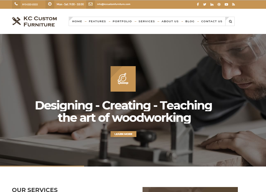 Custom_Woodwork_Website_Mockup